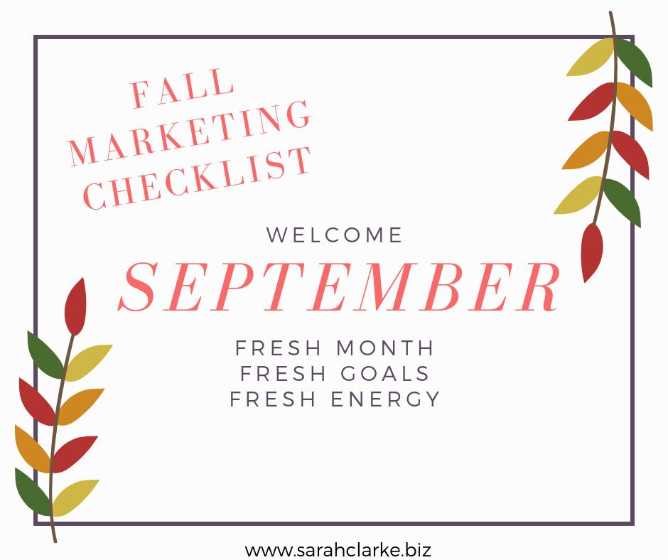 fall marketing checklist