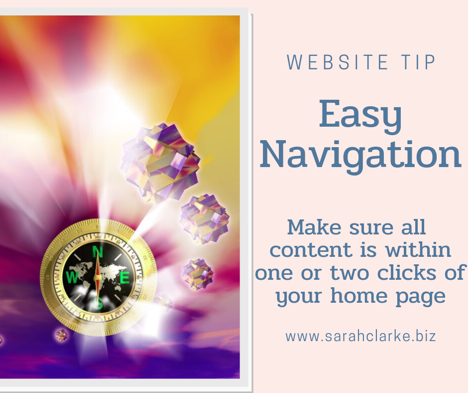 make your website easy to navigate