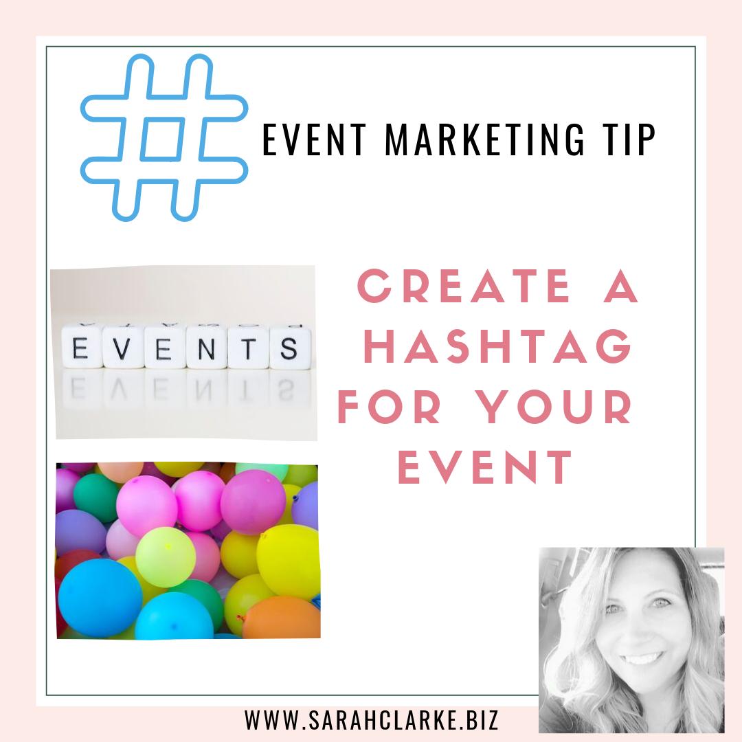 event marketing tip