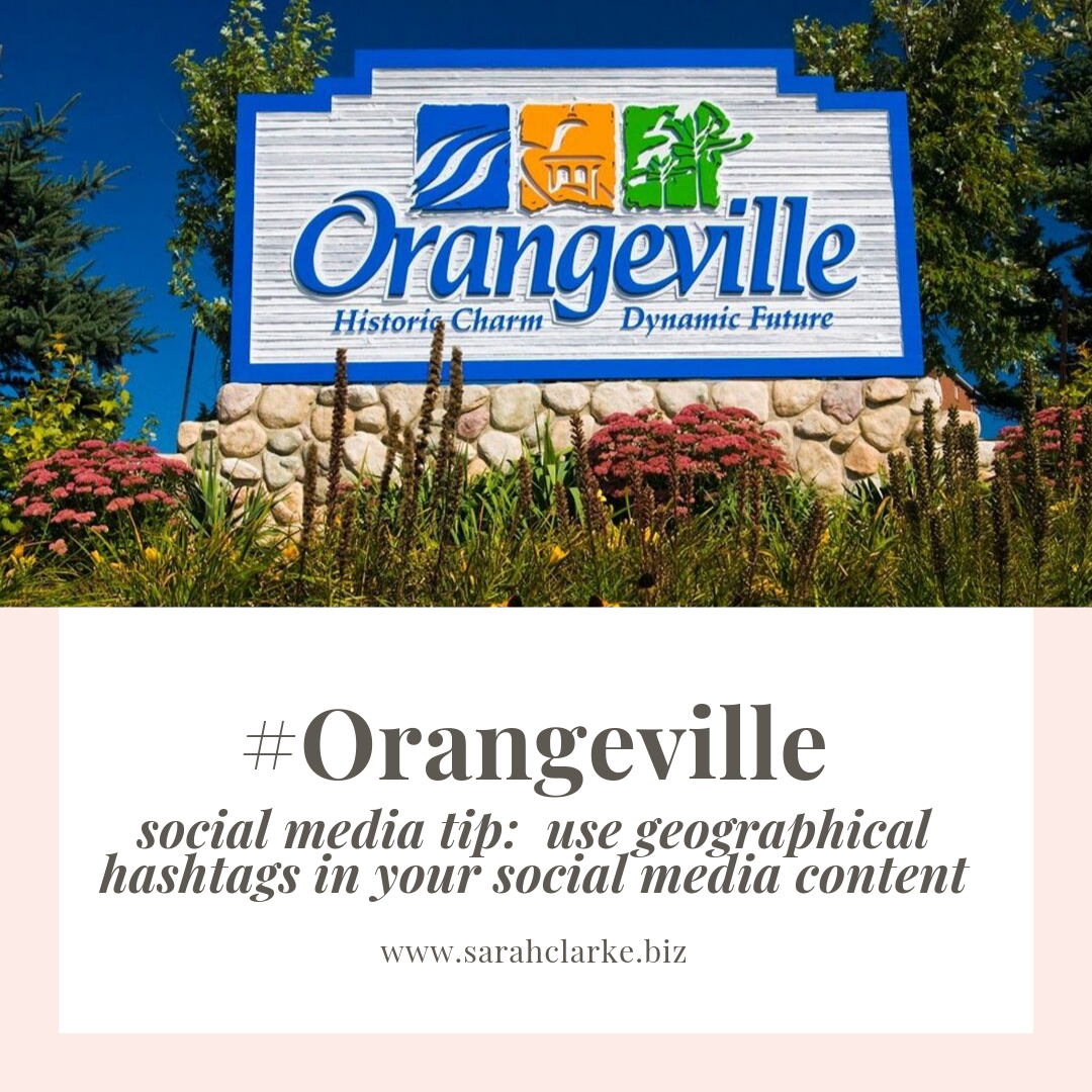 social media tip use geographical hashtags in your posts