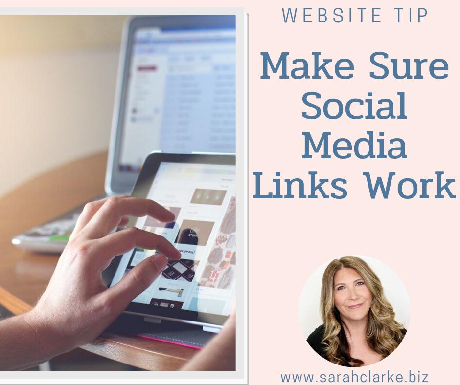 website tip make sure your social media links work