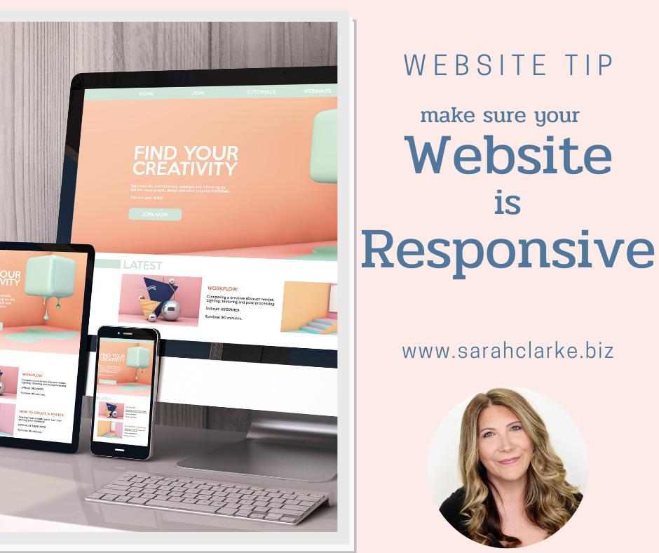 make sure your website is responsive