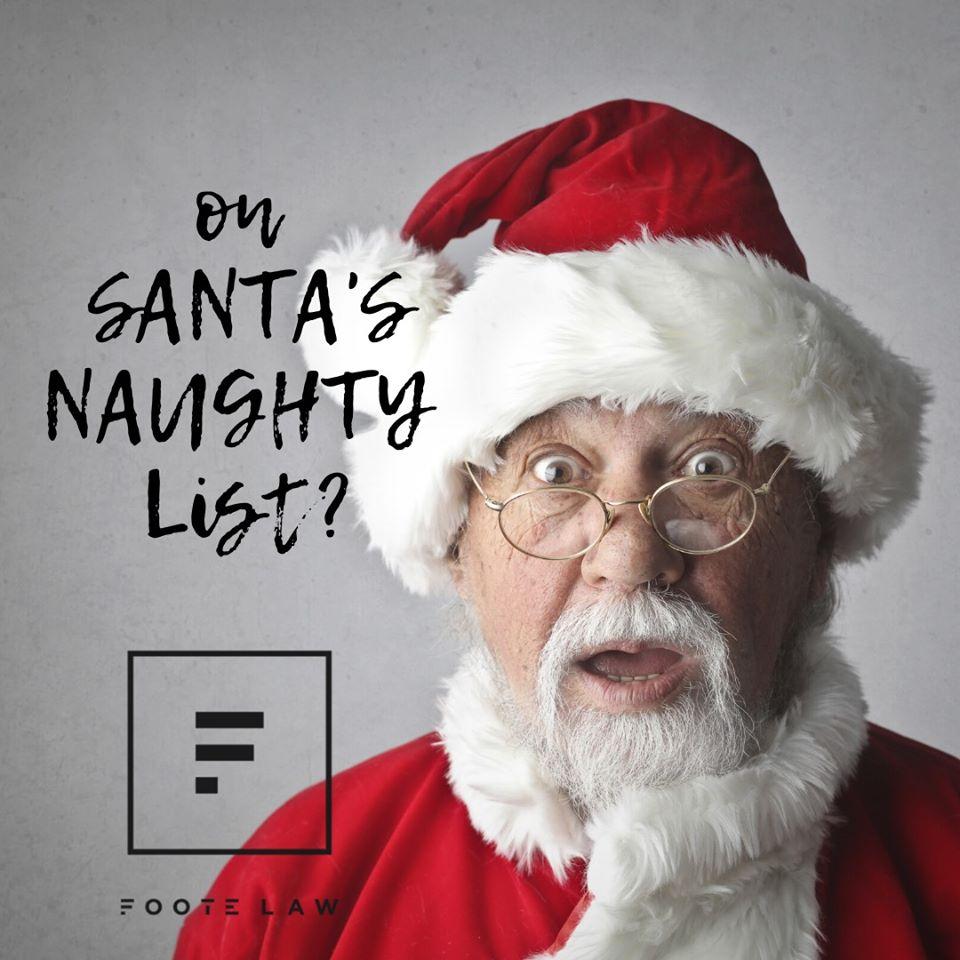 Santa social media post