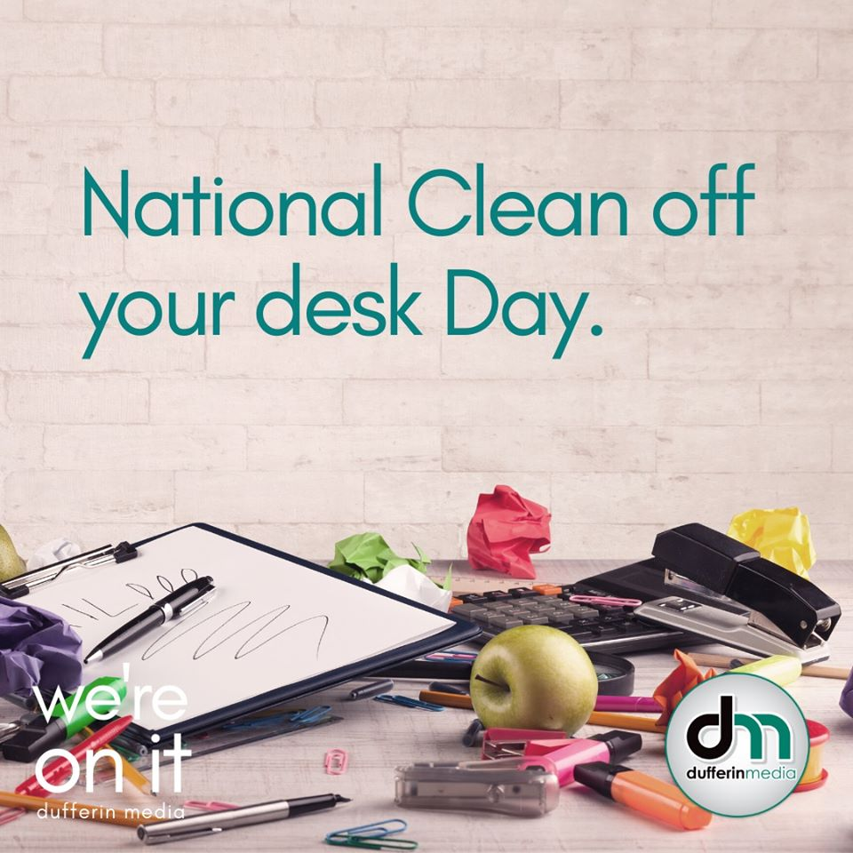 National CLean off your desk day