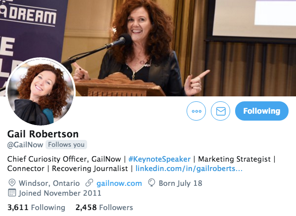 Gail Robertson on using Twitter for her business