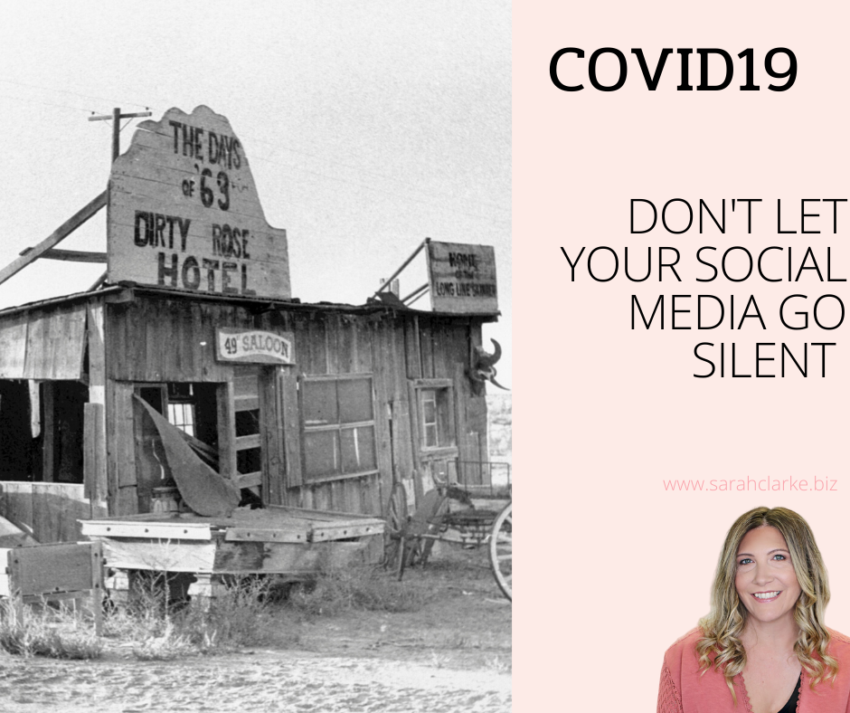 Business Owners do not let your social media channels go silent during covid19