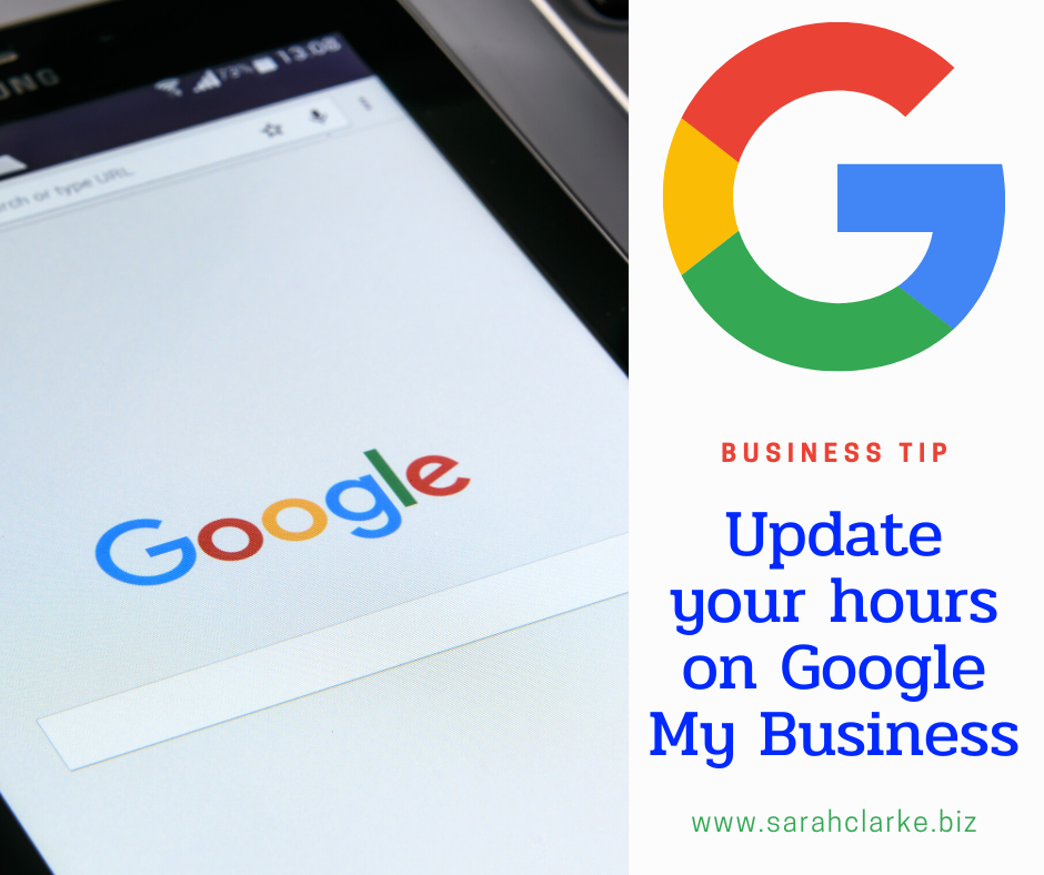 update your hours on google my business