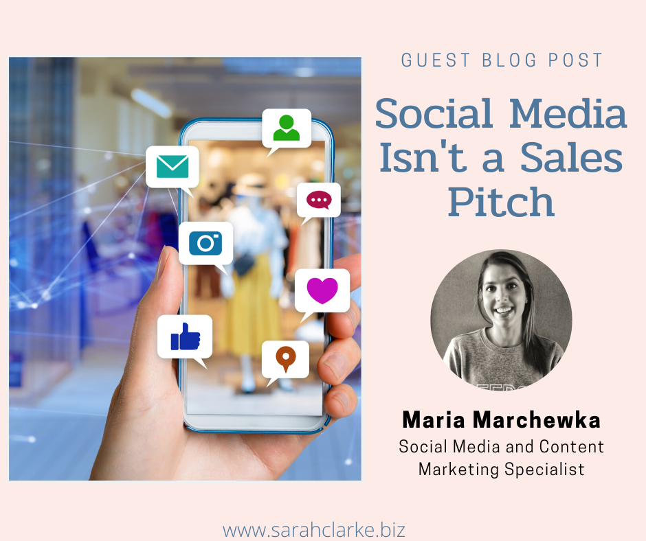 social media is not a sales pitch