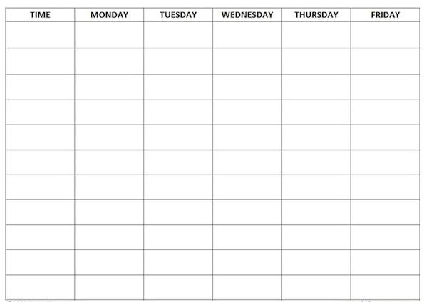 Free Home School Schedule Template