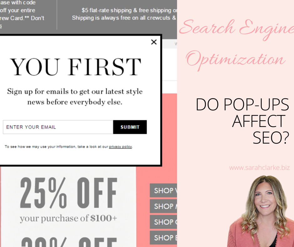 do pop-up ads affect seo