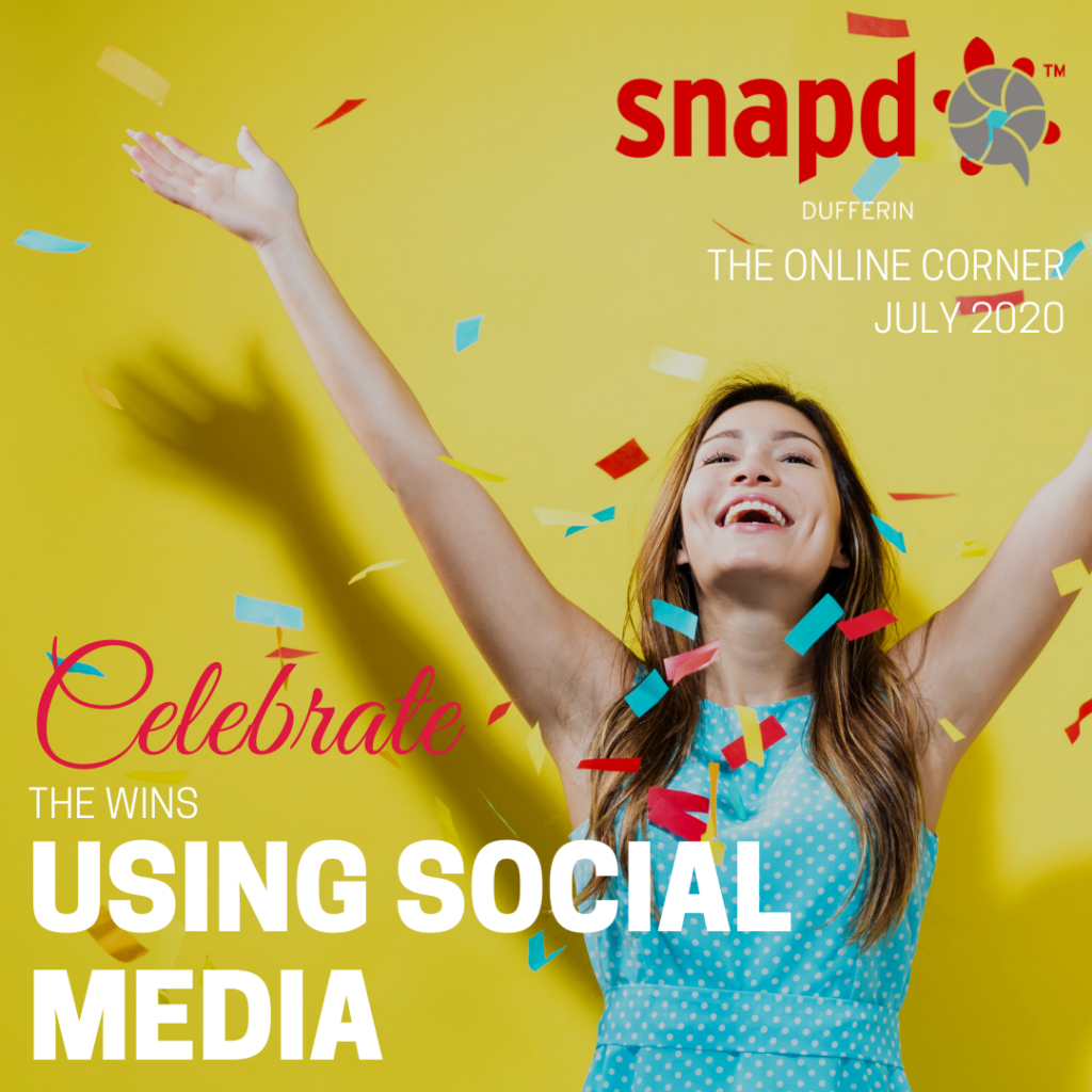 celebrate the wins on social media