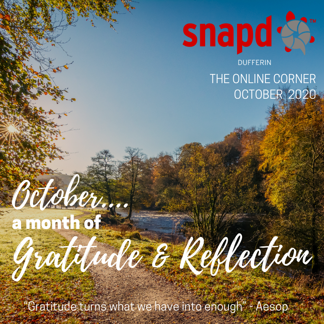 October a month of gratitude and reflection