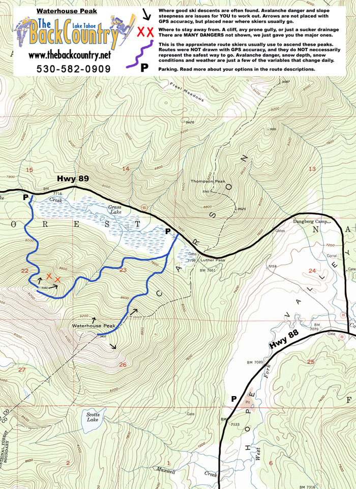 Waterhouse Peak Topo Map