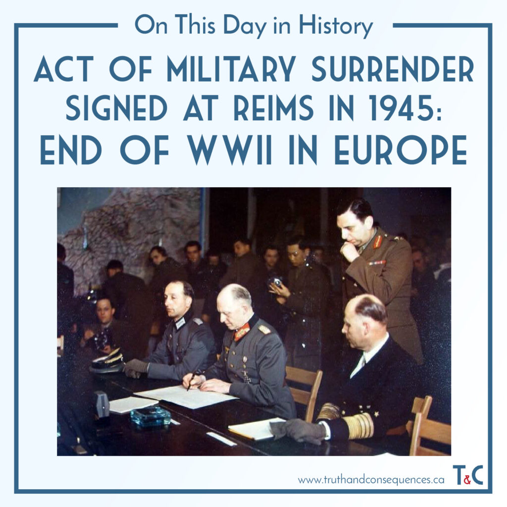 Military Surrender at Reims Truth and Consequences
