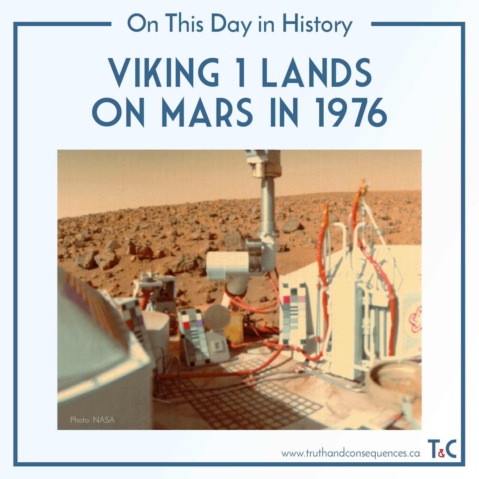 Viking 1 Lands on Mars in 1976
