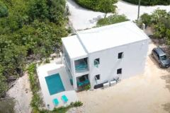 Gracehaven Villa from above showing ample space for parking and the pool deck