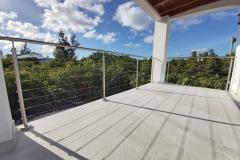 Upper covered balcony for sunsets