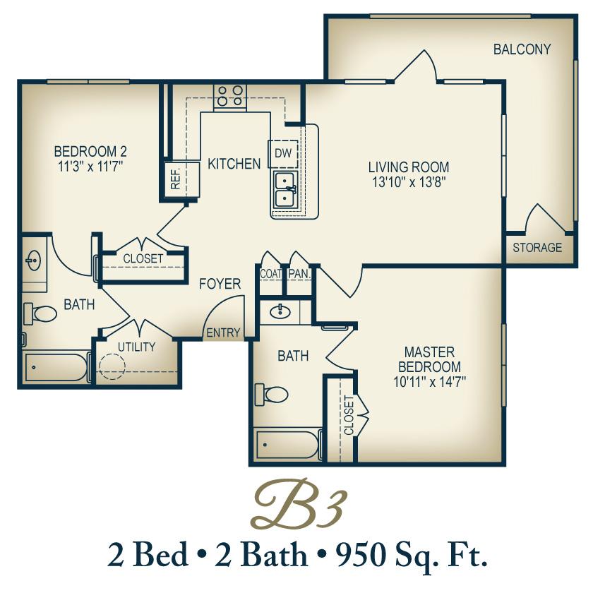 Floorplan B3