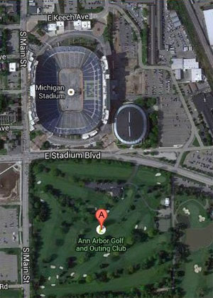 Michigan Football Parking at AAGOC
