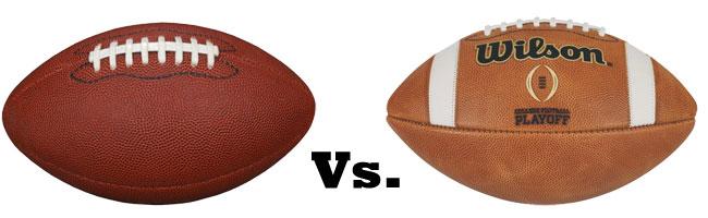 College Football vs NFL