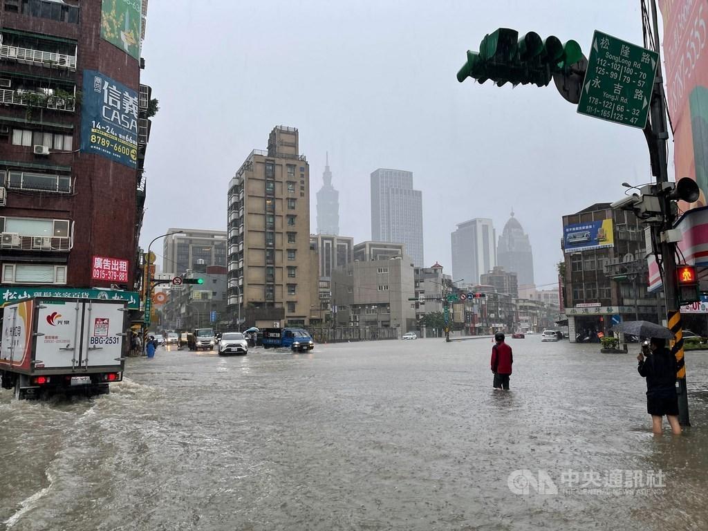 Tayvan'da yağmur ve sel