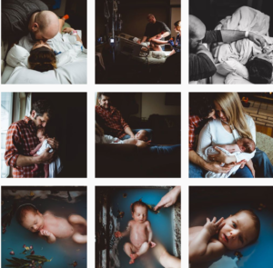 birth photography Instagram feeds - firstembracephotography