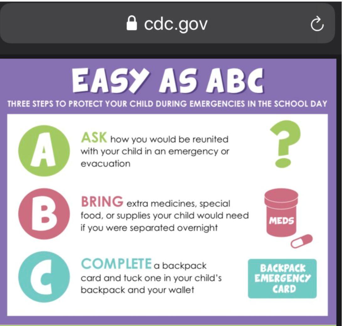 "CDC advises parents to prepare for ""sudden sleepover"" for school children"