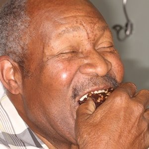 Phillip J., an actual patient of Dr. Mitchmore, your Houston dentist, can now eat the foods he loves thanks to dental implants
