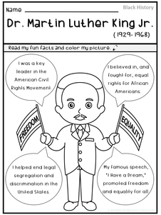 Free MLK Coloring Page
