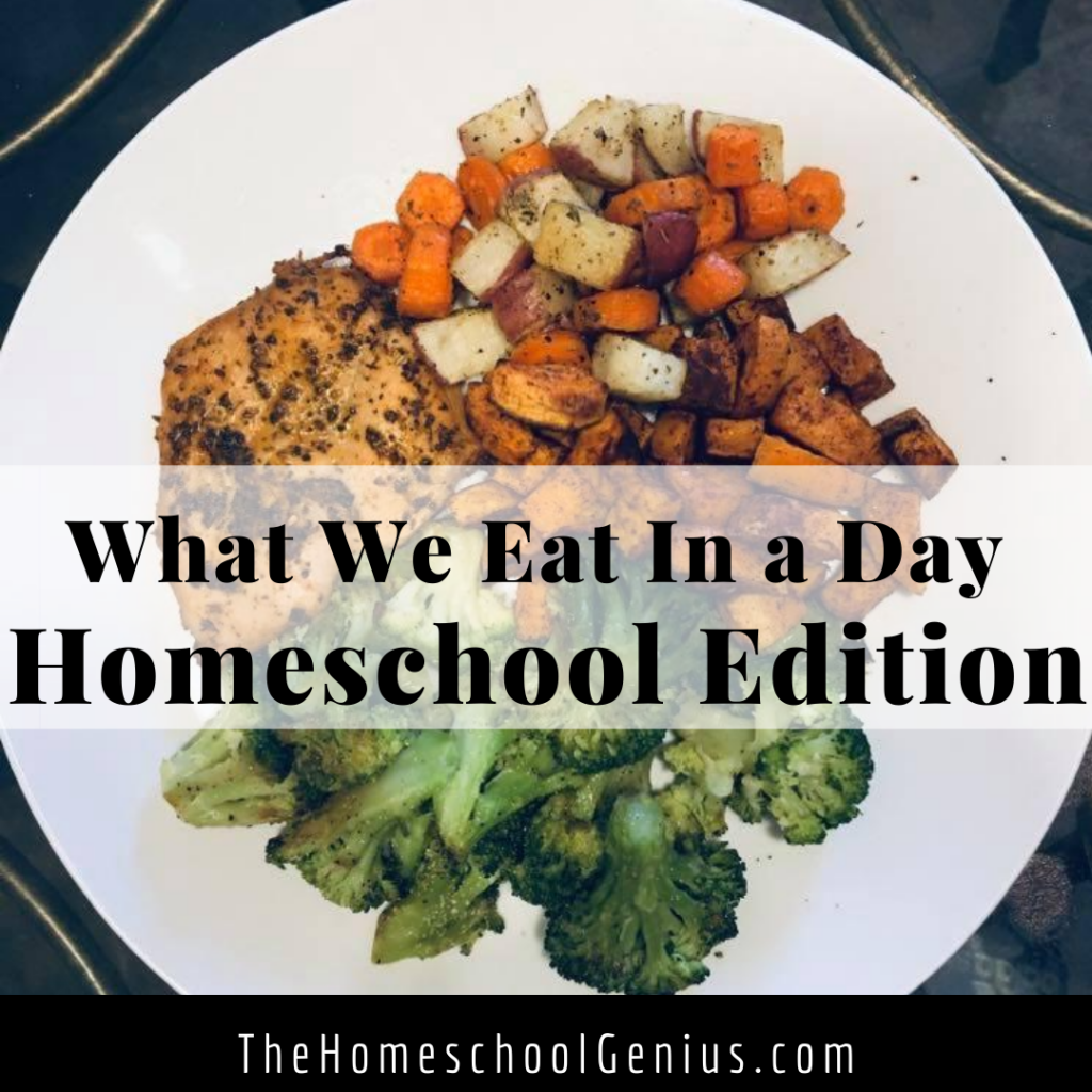 What We Eat in a Day | Homeschool Edition