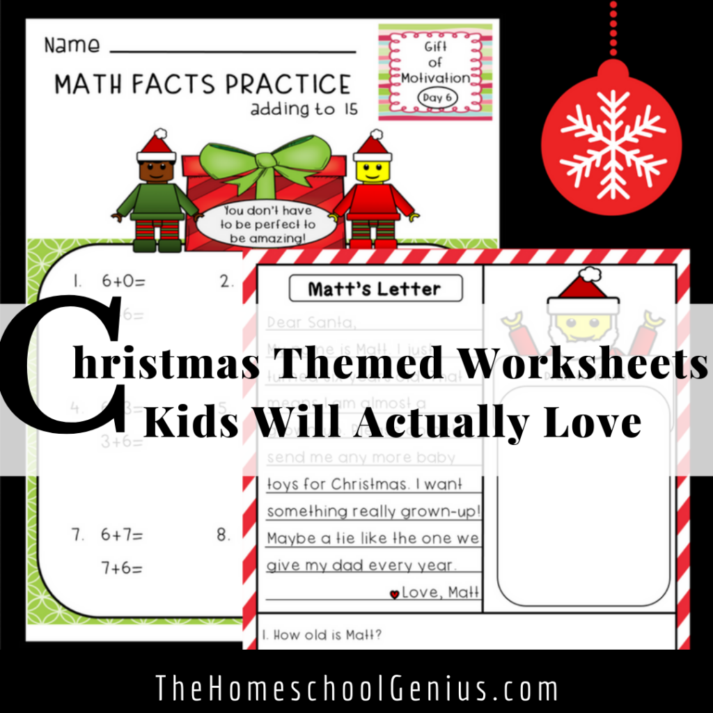 Christmas-Themed Worksheets Kids Will Actually Love