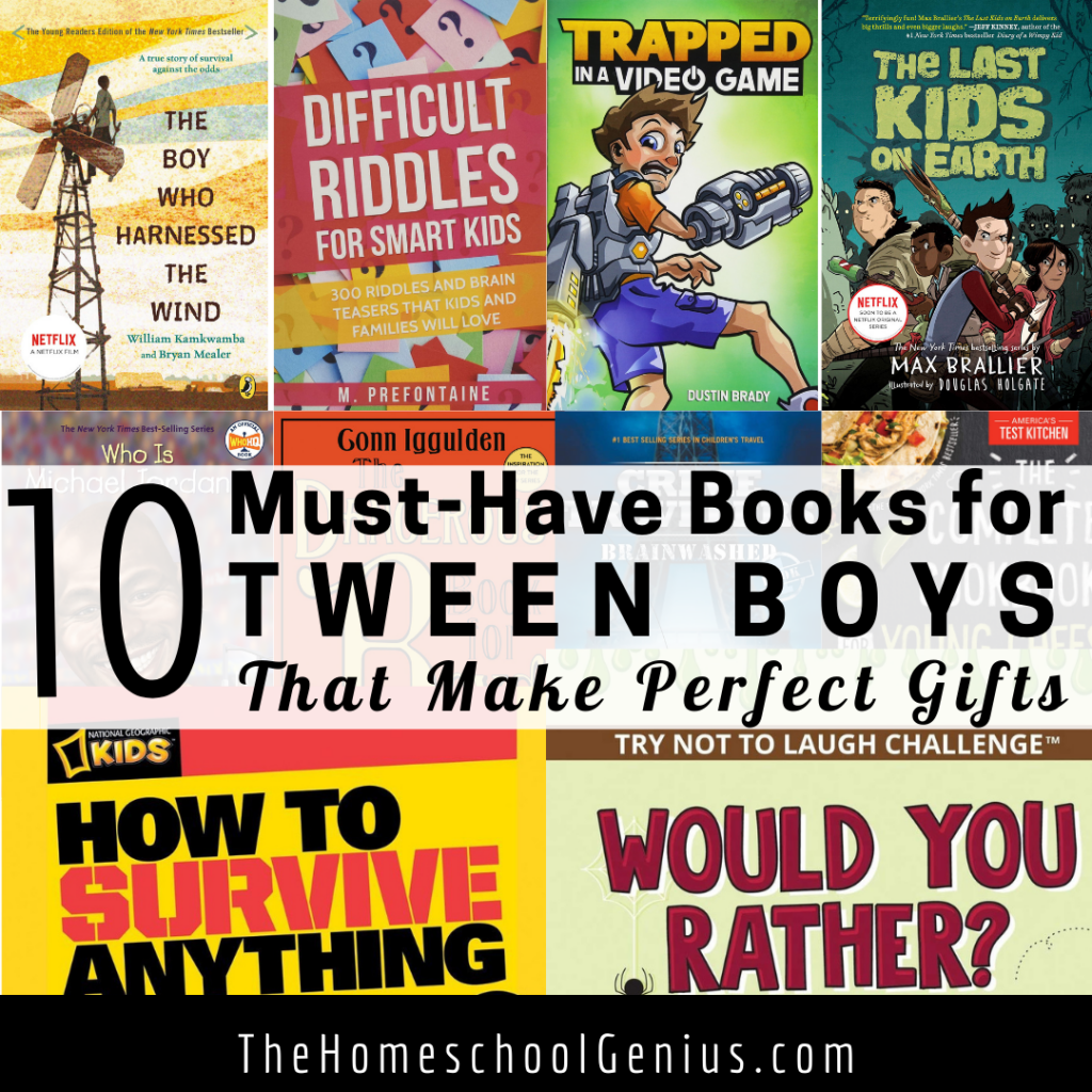 10 Must-Have Books for Tween Boys that Make Perfect Gifts