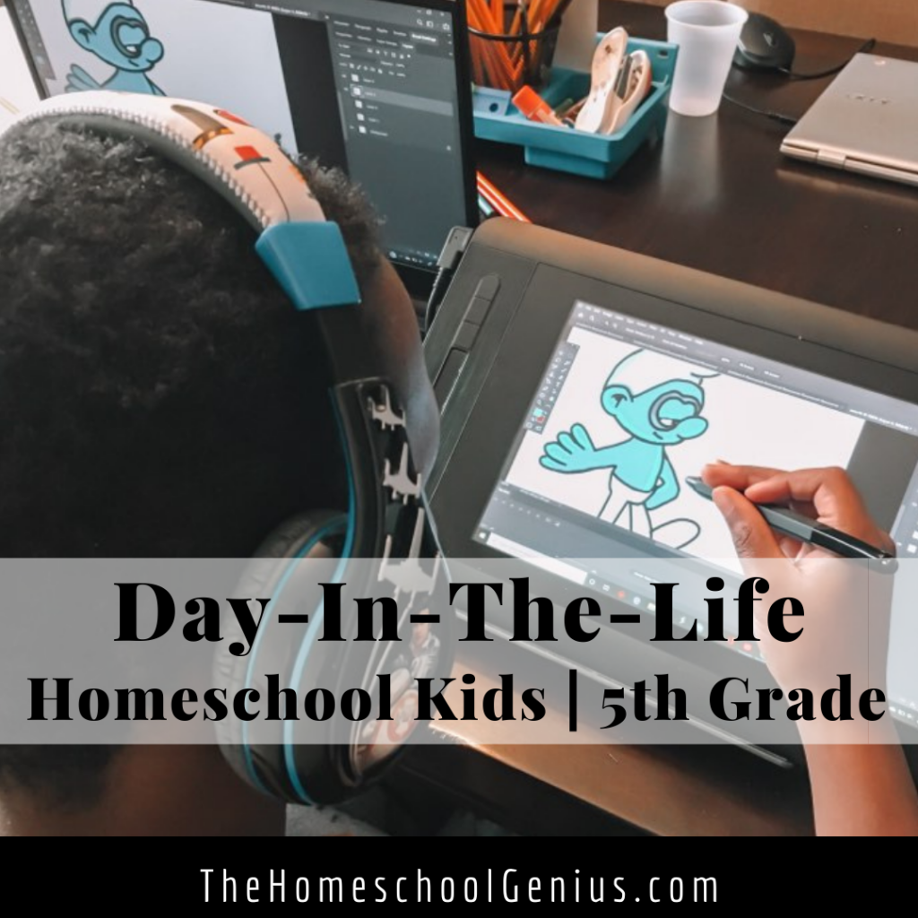 Day in the Life of a Homeschool Kid | 5th Grade