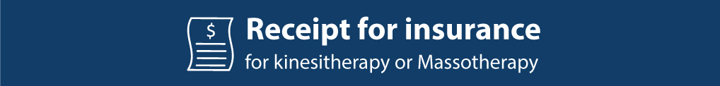 Receip t for insurance for kKnesitherapy or Massotherapy