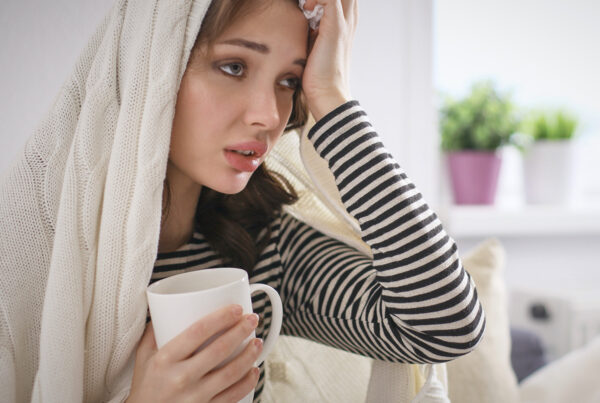 Sick Girl with headache