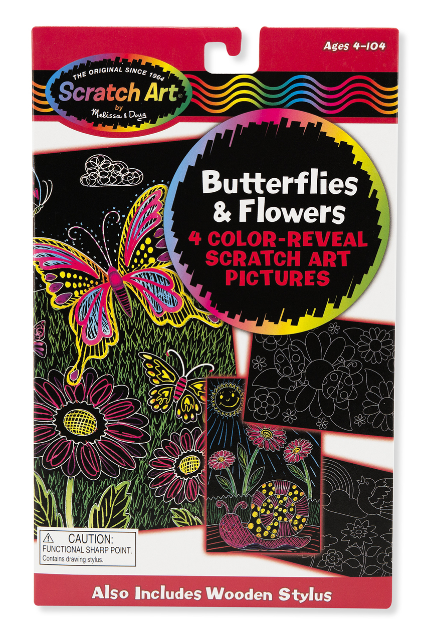 Scratch Art Color Butterfly