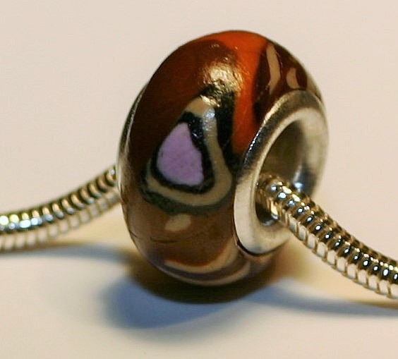 Buckeye Butterfly Jewelry Bead