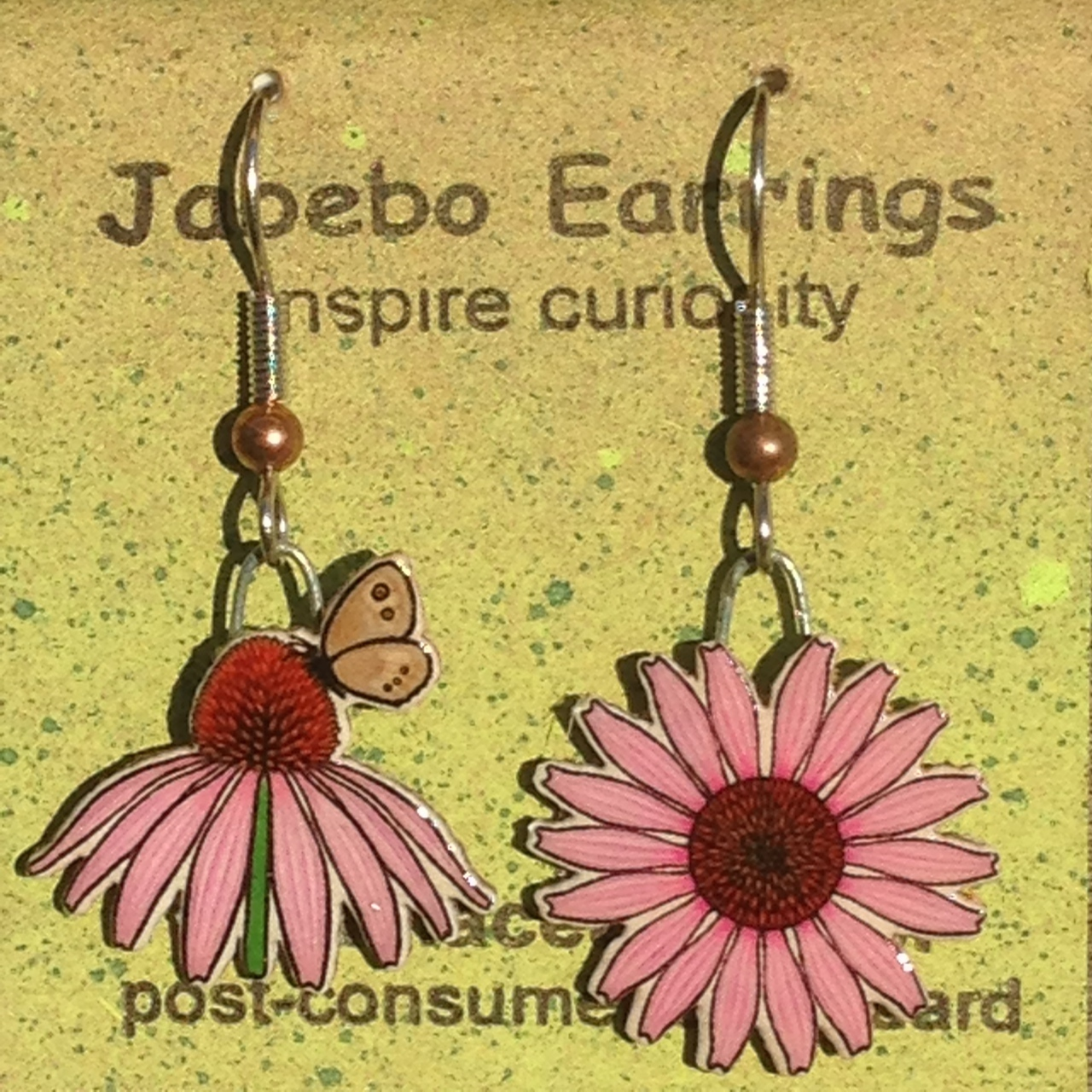 Echinacea with Butterfly Earrings 456
