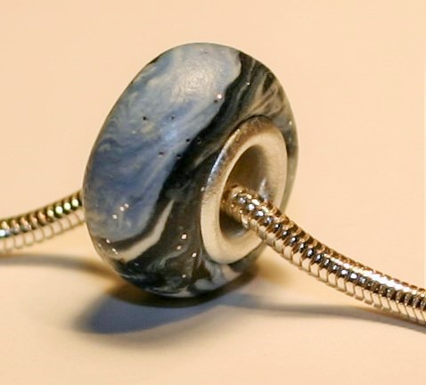 Large Blue Butterfly Jewelry Bead