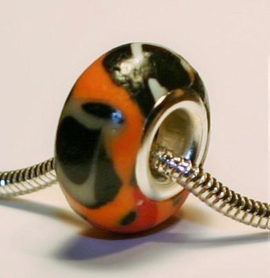 Leopard Lacewing Butterfly Jewelry Bead