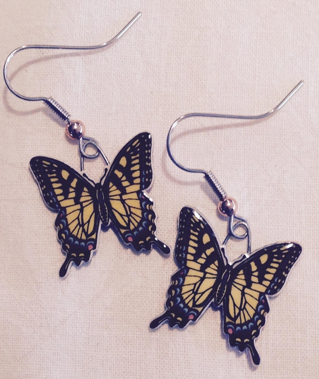 Tiger Swallowtail Butterfly Earrings 427Z 1