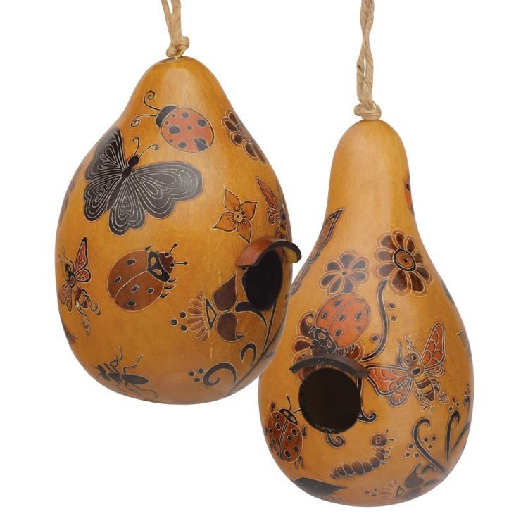 Whimsy Bugs Gourd Birdhouse CGH304M