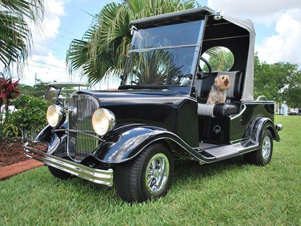 Eagle Custom Golf Carts Classic Street Rod Custom Golf Cart Florida