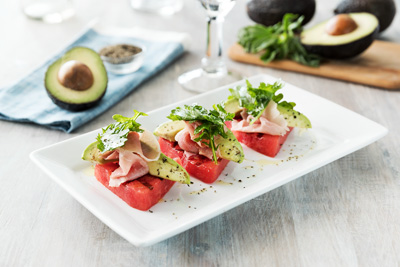 Watermelon Salad with Avocado
