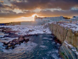 Cliff House Maine in Winter