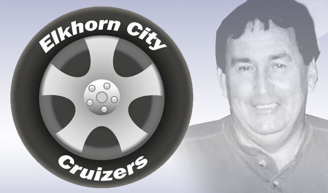Elkhorn City Cruizers logo with Dicky Taylor photo in background