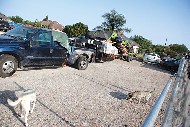 Truck and flatbed trailer involved in fatal accident