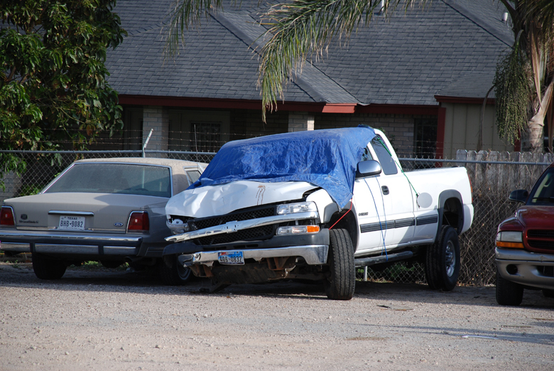 White truck involved in fatal accident
