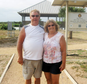 Bill and Dean Pizzey from Canada love the nature park
