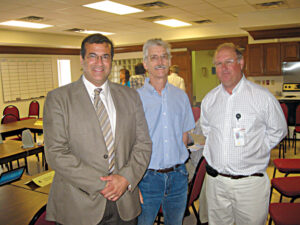 Citizens Forum Speakers (l-r): Rodolfo Montero, IBWC Area Operations Manager; Dr. Hudson DeYoe, Citizens Forum Co-Chair; Dr John Goolsby, Research Entomologist, U.S. Department of Agriculture
